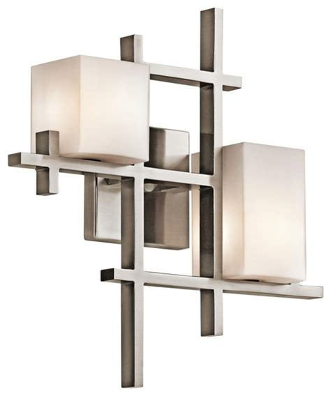 Modern Sconce Light Fixtures Contemporary Kichler City Lights 16 Quot High Geometric Pewter Wall Sconce Contemporary Wall