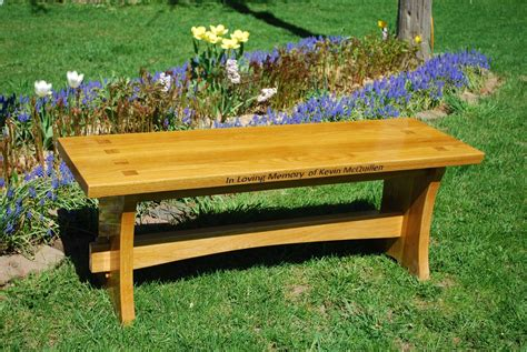 custom wood benches handmade memorial wood bench by larue woodworking