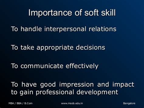 Mba Soft Skills by What Are The Important Soft Skills Required For Mba Graduates