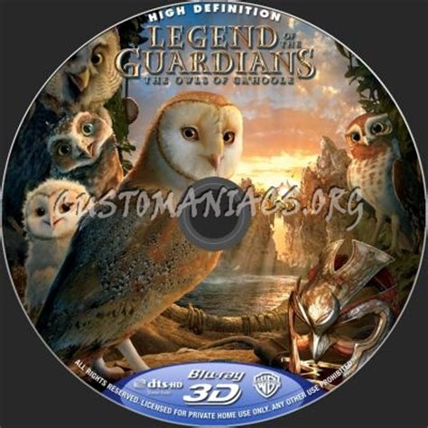 Legend Of Guardians 3d legend of the guardians the owls of ga hoole 3d label dvd covers labels by