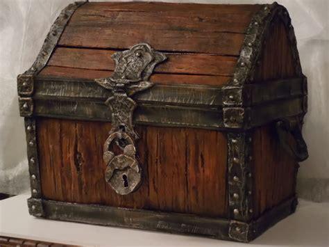 wood  faux treasure chest