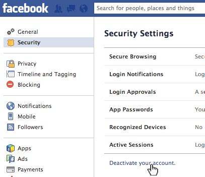 how to deactivate or delete your account