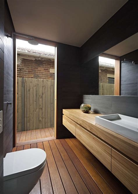 Wood Bathroom by 25 Best Ideas About Wooden Bathroom Vanity On