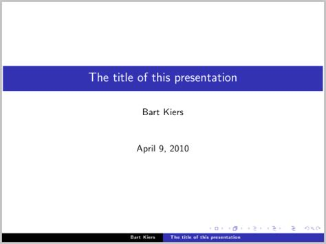 Paper Size Latex Beamer Presentation Package 16 9 Aspect Tex Presentation Template