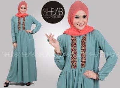 Mazaya Gamis Kaos Model 30 20 contoh baju gamis muslim brokat terbaru 2018