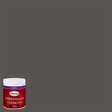 glidden premium 8 oz hdgcn52 forest black eggshell interior paint with primer tester hdgcn52p