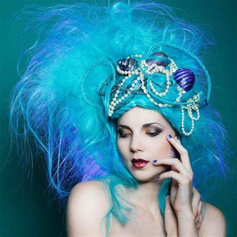 hair show themes cyan baby blue avant garde hair fashion show ideas