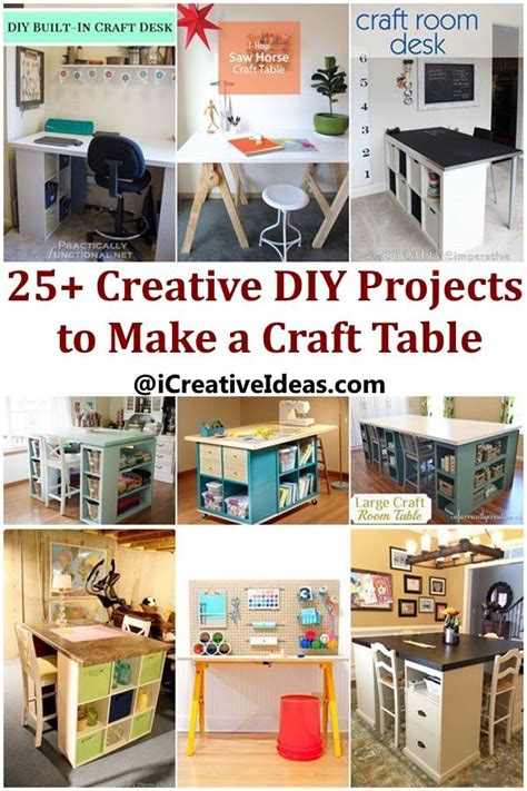 25 creative and easy diy 25 creative diy projects to make a craft table