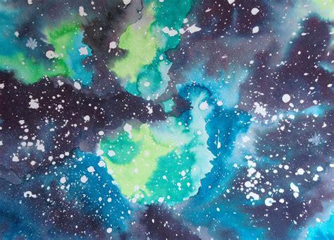 tutorial watercolor galaxy diy watercolor galaxy popelephant