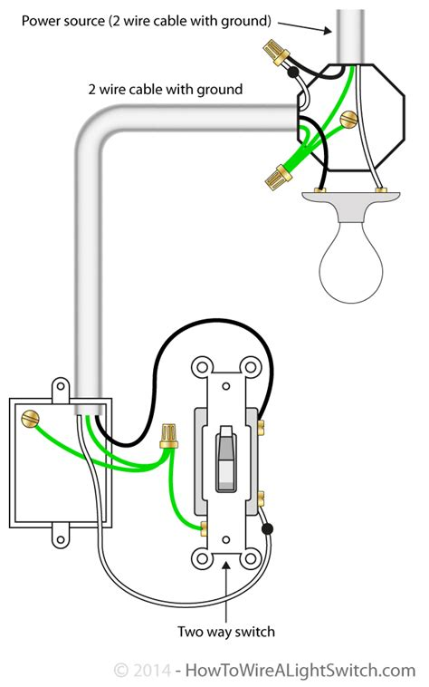 power feed via light how to wire a light switch