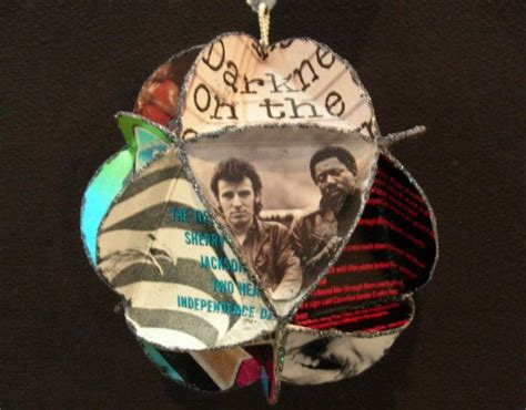 bruce springsteen album cover ornament made of by