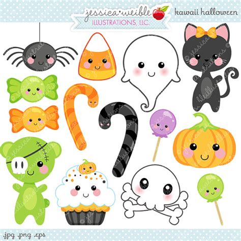 imágenes de halloween kawaii kawaii halloween cute digital clipart commercial use ok