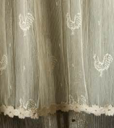 Country Style Curtains Valances Rooster Lace Curtains Rooster Decor Pinterest