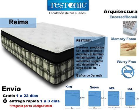 colchones para cama colch 243 n para cama individual reims env 237 o gratis restonic