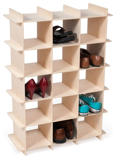 contemporary shoe storage wood shoe cubby contemporary shoe storage by sprout