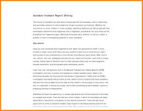 Incident Report Exle Writing 4 How To Write An Incident Report Model Resumed