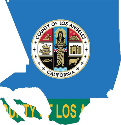 Los Angeles County Records 2016 File Flag Map Of Los Angeles County California 2014 2016