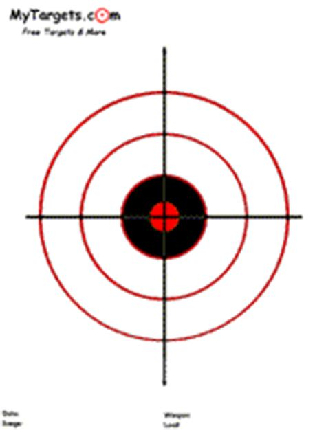 printable circle targets mytargets print out free targets firearms pinterest