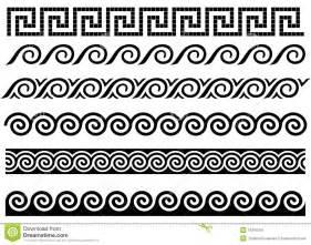 Greek Vase Pattern Meander And Wave Ancient Greek Ornament Stock Images