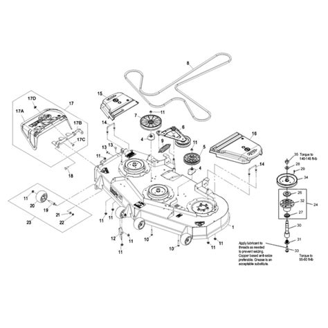 exmark deck belt diagram exmark 60 quot lazer z deck parts 09 10