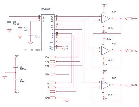 Analog Multiplexer Cd4053 Mux 4053 mixed circuits archives delabs schematics electronic circuit