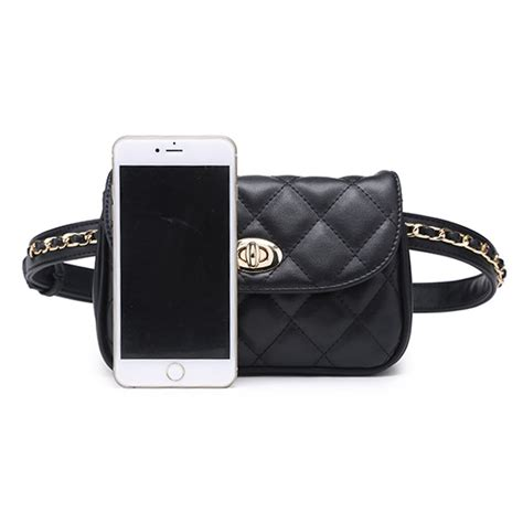 tas pinggang wanita luxury waist bag 1534 blue jakartanotebook