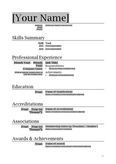 Resume Templates On Word 2010 by Free Resume Templates For Microsoft Word 2010 Resume Templates Microsoft Word 2010