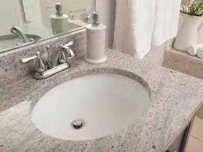 How To Install Bathroom Undermount Sinks To Granite Bathroom Granite Countertop Costs Hgtv