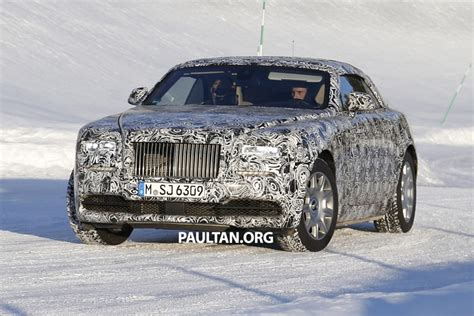 Rolls Royce Wraith Back Spied Rolls Royce Wraith Drophead Coupe Testing Image 319869