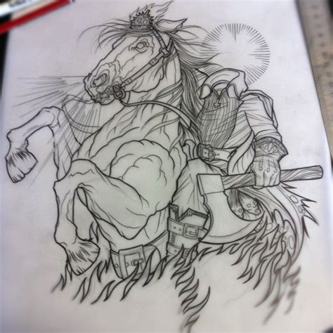 headless horseman tattoo headless horseman dave olteanu tattooer at str in