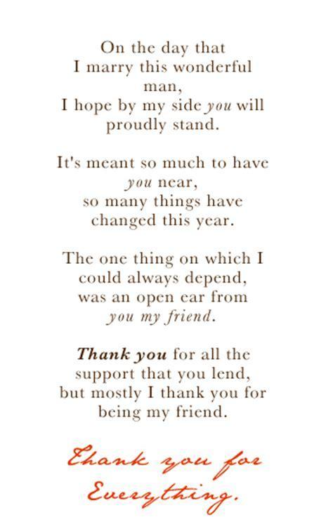Bridesmaid Poem
