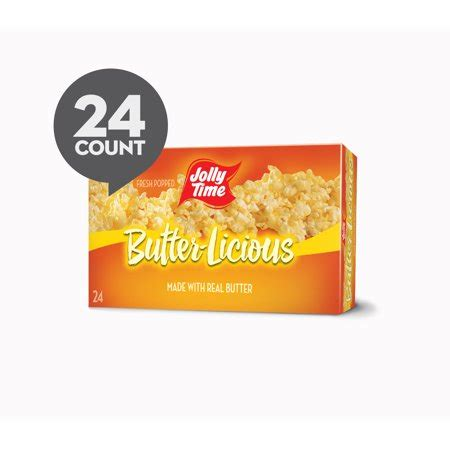 jolly time microwave popcorn butterlicious  bags  oz