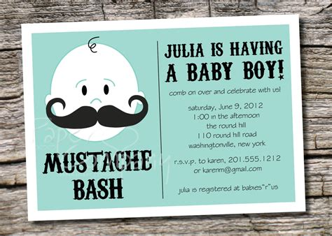 Free Mustache Baby Shower Invitation Templates mustache baby shower invitation templates theruntime