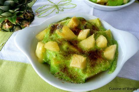 chartreuse cuisine sabayon ananas et chartreuse verte cuisine et vanity