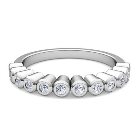 custom bezel wedding ring band for with diamonds