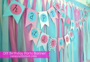 Diy Birthday Banner » Home Design 2017