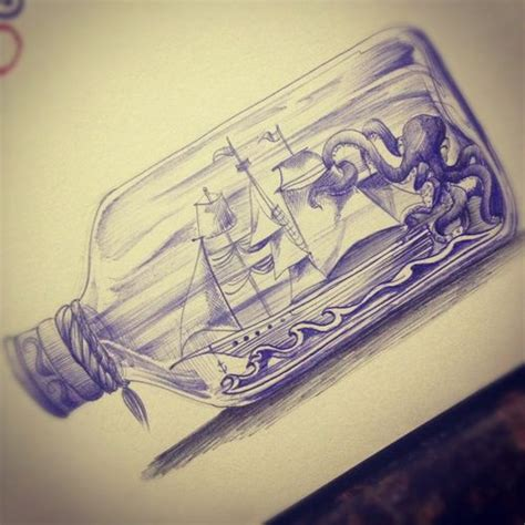 ship in a bottle tattoo best 25 nautical tattoos ideas on nautical