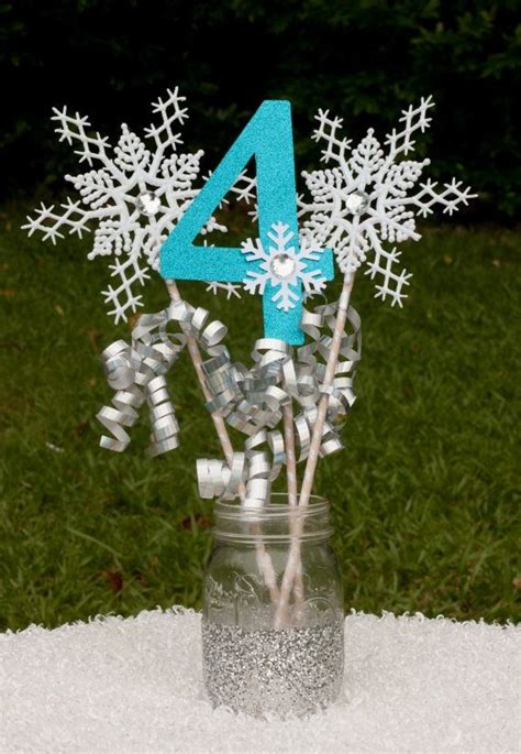 snowflake decorations snowflake table decorations laurensthoughts