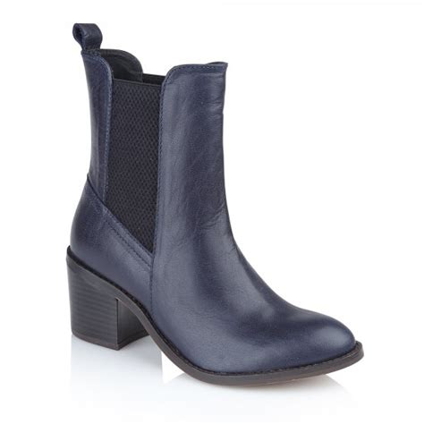 navy boot c location buy ravel miami ankle boots in navy leather