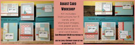 card workshop zoe august card workshop the brae er