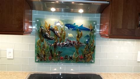 fused glass murals pacific coast underwater