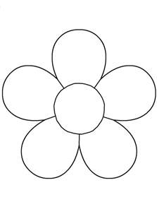 flower template children activities activity shelter coloring pages kids