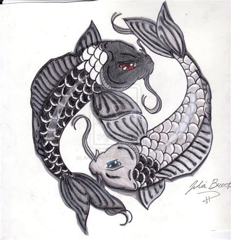 yin yang koi fish tattoo koi fish yin yang tattoos designs