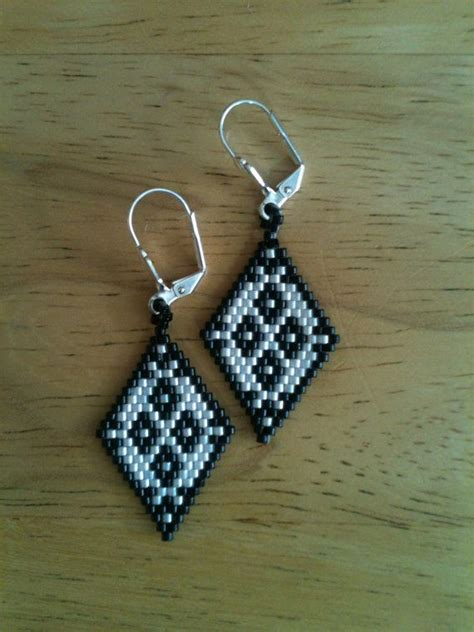 Earrings Beaded Handmade - handmade delica seed bead earrings