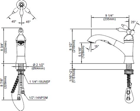 danze d455040 fairmont single handle pull out kitchen danze 174 fairmont faucet collection