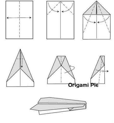 Folded Paper Airplanes - how to make paper airplanes origami pie