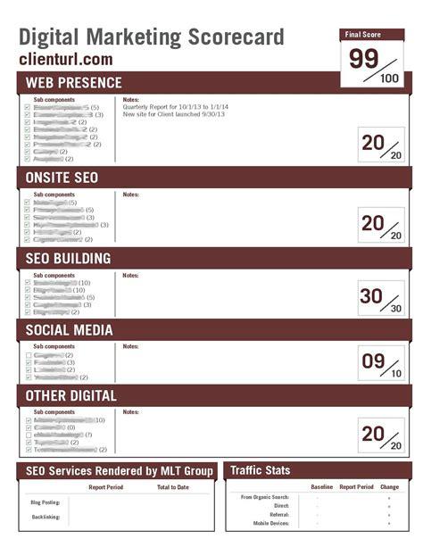 Mlt Group Unveils New Digital Marketing Scorecard Mlt Group Creative Solutions Industry News Marketing Scorecard Template