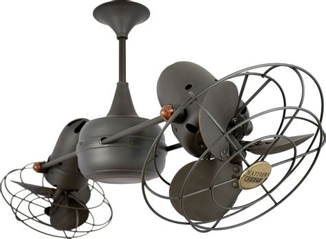 ceiling fan with two fans matthews fan co duplo dinamico metal ceiling fan dd bz