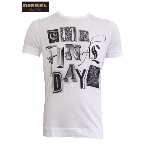 T Shirt Diesel diesel t shirt black gold telaro white