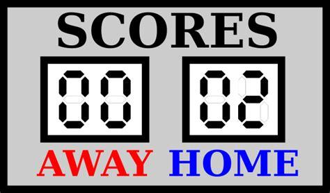 football scoreboard coloring page scoreboard clipart